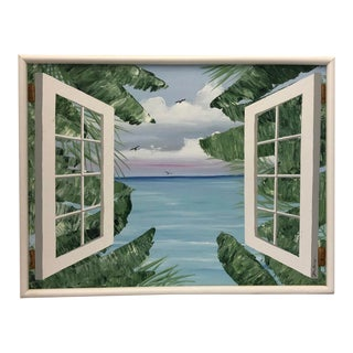 Tropical Ocean View Canvas Painting by Bottalico For Sale