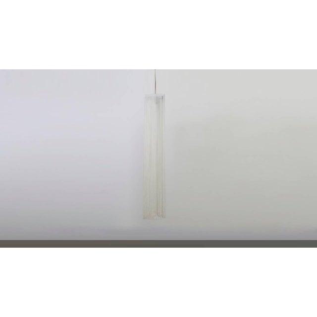 "Triangular ""Garbo"" string hanging lamp. Designed by Mariyo Yagi and Studio Simon for Gavina, Italy, 1974. Very good..."