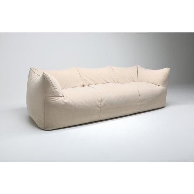 Textile Mario Bellini 'Le Bambole' Three-Seat Couch in Alcantara For Sale - Image 7 of 10