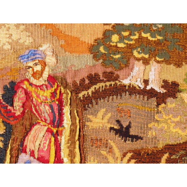 French Late 19th Century Antique French Floral Tapestry - 3′4″ × 5′ For Sale - Image 3 of 5