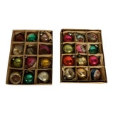 Image of 1960s Vintage Holiday Ornaments - Set of 24 For Sale