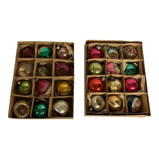 1960s Vintage Holiday Ornaments - Set of 24 For Sale