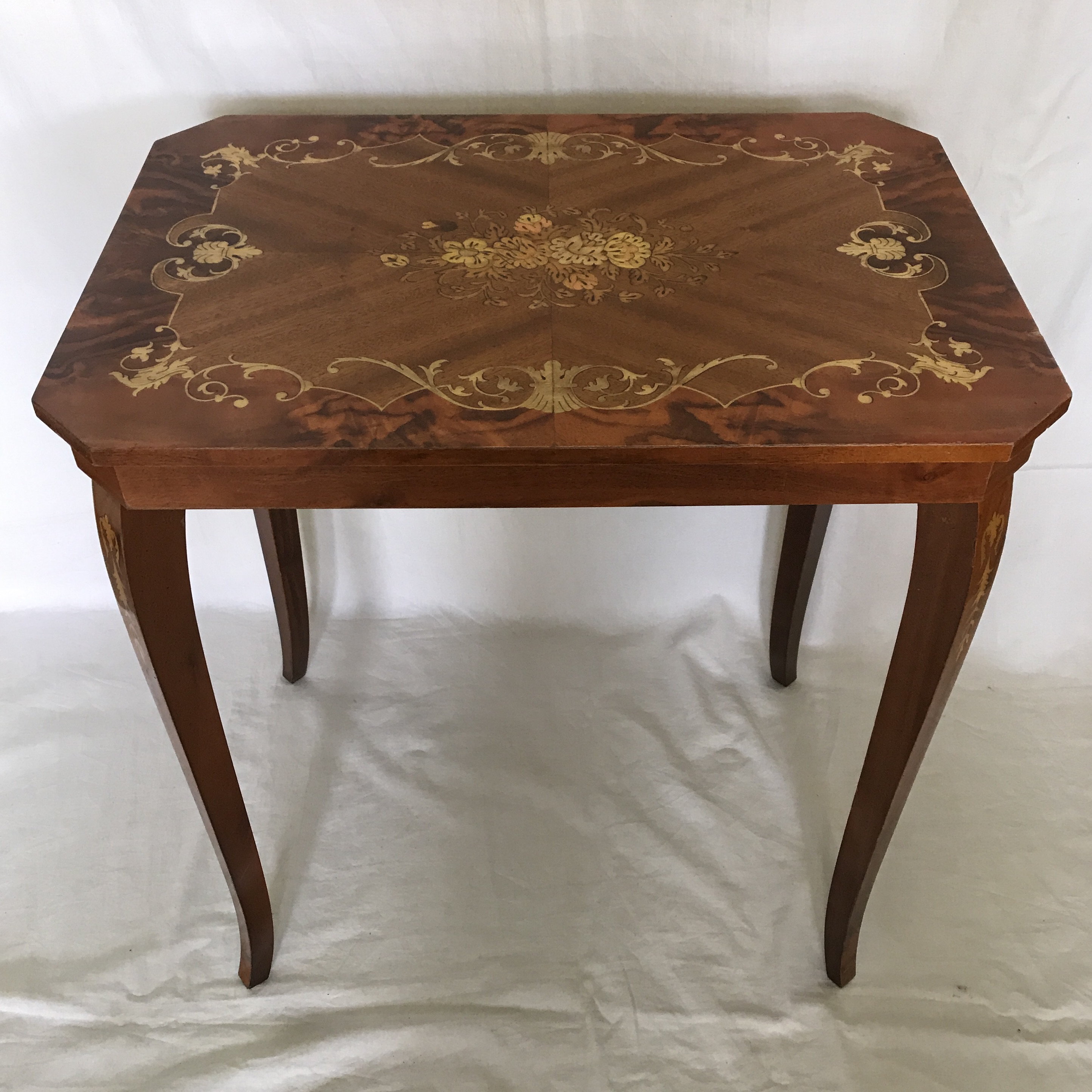 Wood Italian Marquetry U0026 Inlaid Wood Table For Sale   Image 7 ...