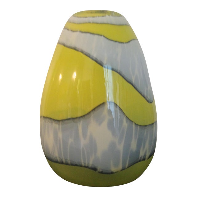 Italian Modern Blown Glass Vase - Image 1 of 4