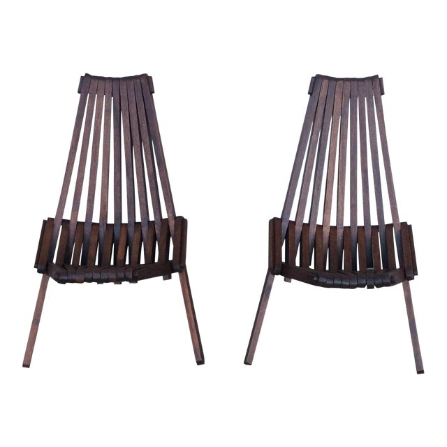 Beach Folding Chairs - A Pair - Image 1 of 11