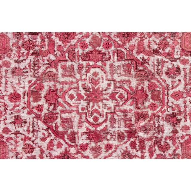 "Traditional Apadana - Vintage Overdyed Rug, 10'9"" X 8'1"" For Sale - Image 3 of 6"