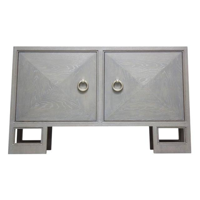 """Truex American Furniture """"St Regis Cabinet"""" Grey Oak Ceruse For Sale"""
