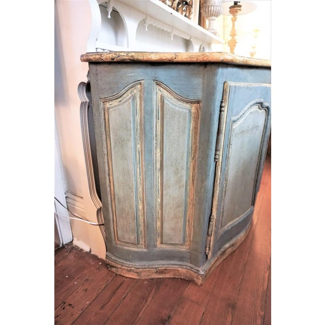 French 18th Century Italian Painted Credenza For Sale - Image 3 of 10