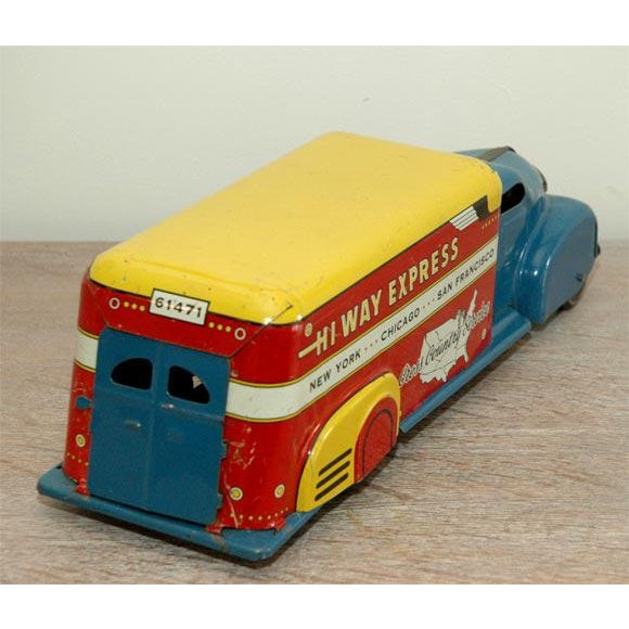 Marx Tin Litho Highway Express Toy Truck For Sale - Image 5 of 8