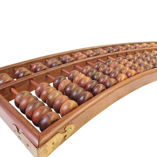 Fan Shaped Abacus Fengshui Wall Hanging For Sale - Image 5 of 6