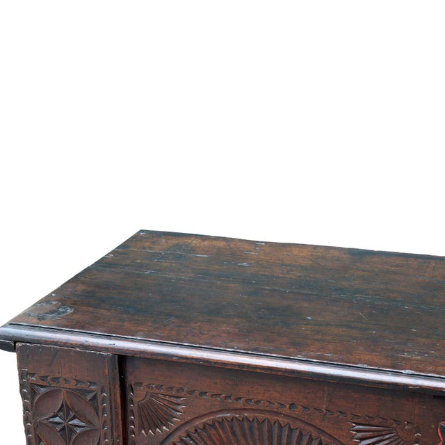 Red 18th Century Carved Spanish Chest For Sale - Image 8 of 10