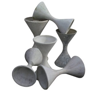 French Diabolo Planters by Willy Guhl for Eternit For Sale