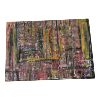 Multi-Color Abstract Painting on Poster Board
