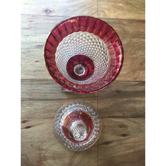 Westmoreland Glass Westmoreland Glass English Hobnail Large Candy Dish For Sale - Image 4 of 8