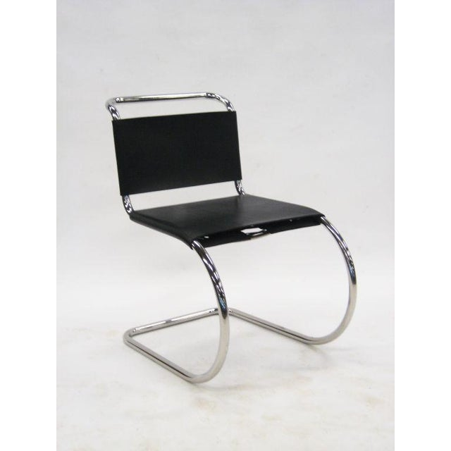 Metal Ludwig Mies van der Rohe MR chairs by Knoll For Sale - Image 7 of 8
