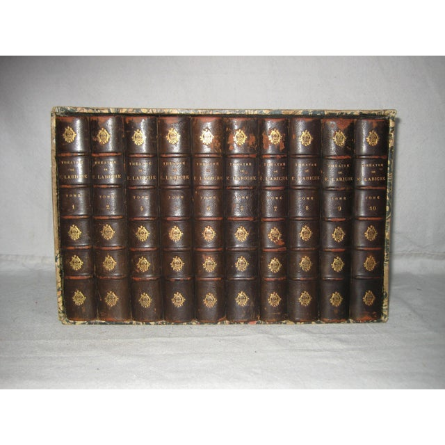 Late 19th Century French Leather Books - Set of 10 For Sale - Image 12 of 12