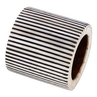 Casa Cosima Pinstripe Napkin Ring in Black & White For Sale