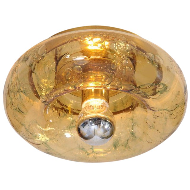 Pair of Doria Murano Glass Flush Mounts or Sconces For Sale