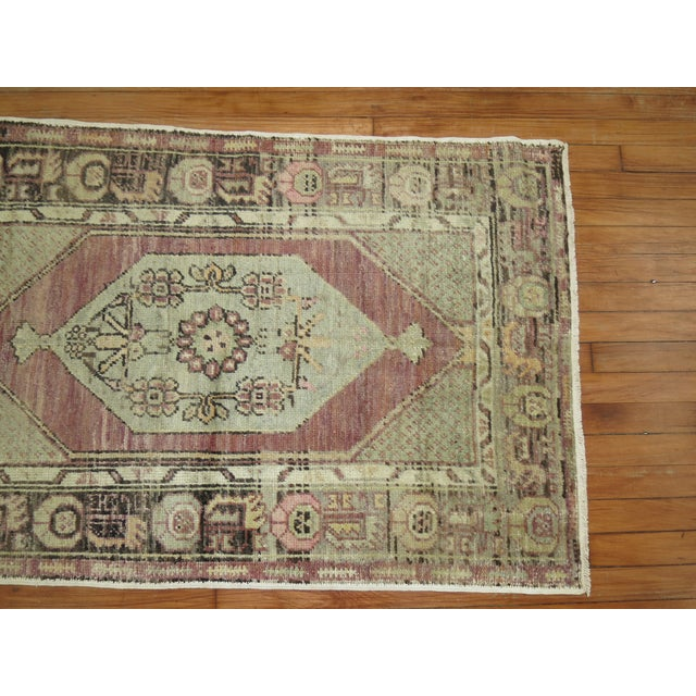 Mid 20th Century Lavender Turkish Oushak, 2'10'' X 4'4'' For Sale - Image 5 of 6