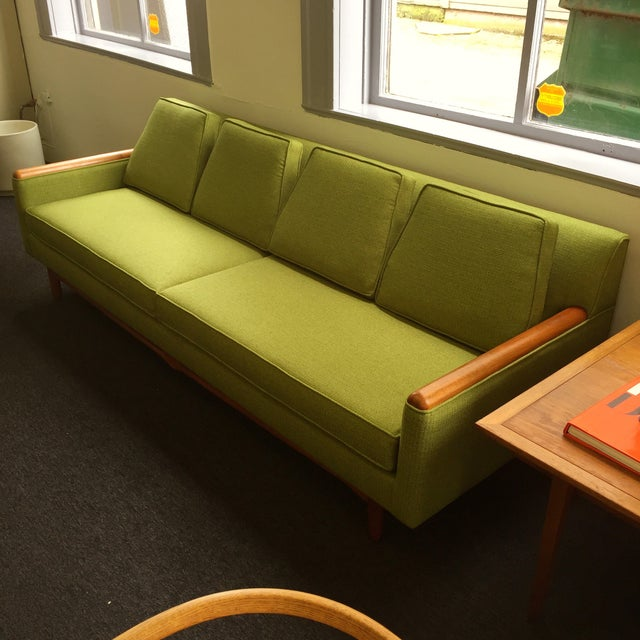 Adrian Pearsall Adrian Pearsall Green Sofa For Sale - Image 4 of 9