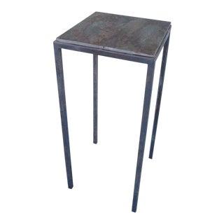 Steel Base and Slate Top Pedestal