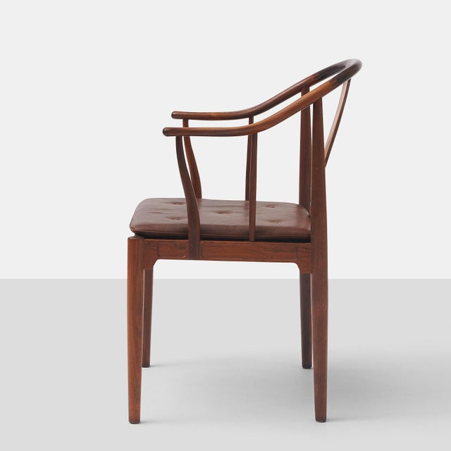 """1960s Pair of Rosewood """"China"""" Chairs by Hans J Wegner For Sale - Image 5 of 10"""