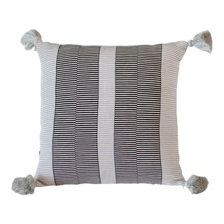 Luna Grid Single Pompoms Pillow For Sale