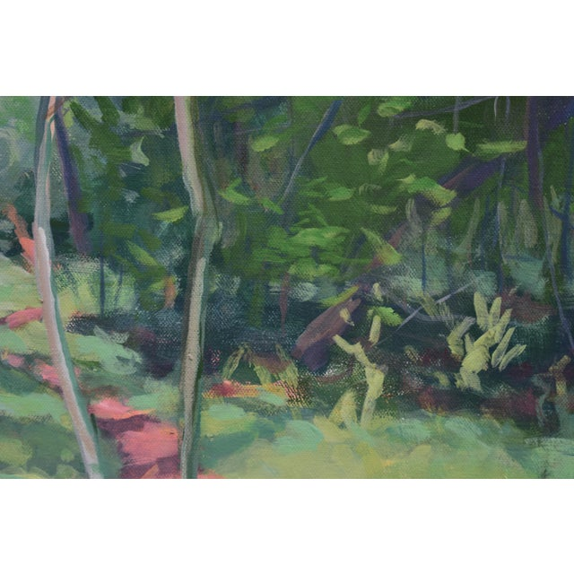"Stephen Remick ""Path With Two White Pines"". Contemporary Plein Air Painting by Stephen Remick For Sale - Image 4 of 7"