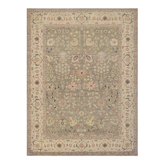 "Persian Gray Wool Tabriz Rug - 8'2"" X 10'7"" For Sale"