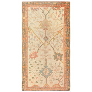 Antique Decorative Turkish Oushak Rug - 3′7″ × 6′7″ For Sale