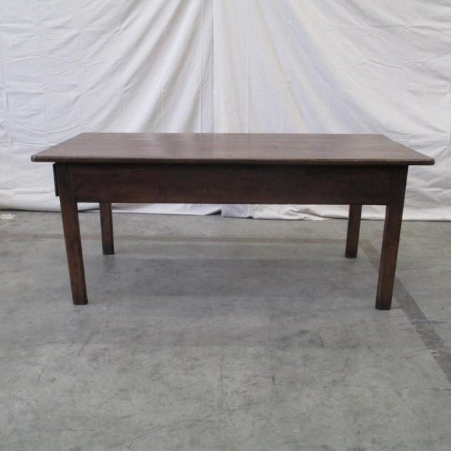 Antique French Farm Table With Drawers Chairish - Farm table austin
