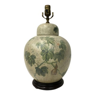 Oriental Barrel Jar Lamp with Cup Cover For Sale