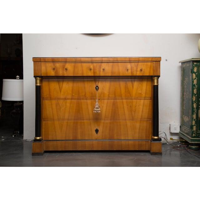 19th Century German Biedermeier Cherrywood Chest of Drawers For Sale - Image 9 of 9
