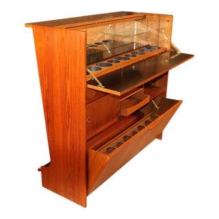 1960s Johannes Andersen Mid Century Danish Teak Bar For Sale