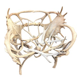 Vintage Elk Antler Chair For Sale