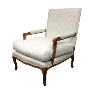 Kreiss Bergere Chair in Holly Hunt Fabric For Sale