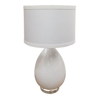 Murano Vetri Egg Table Lamp For Sale
