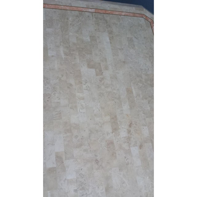 Tessellated Fossil Stone Pedestal Dining Table - Image 8 of 8