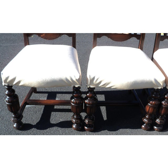 Early 20th Century Antique Gothic Revival Chairs- Set of 4 For Sale - Image 9 of 10