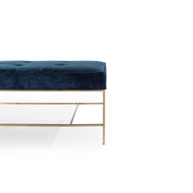 Prime Extra Long Architectural Brass Bench In Chenille Lamtechconsult Wood Chair Design Ideas Lamtechconsultcom