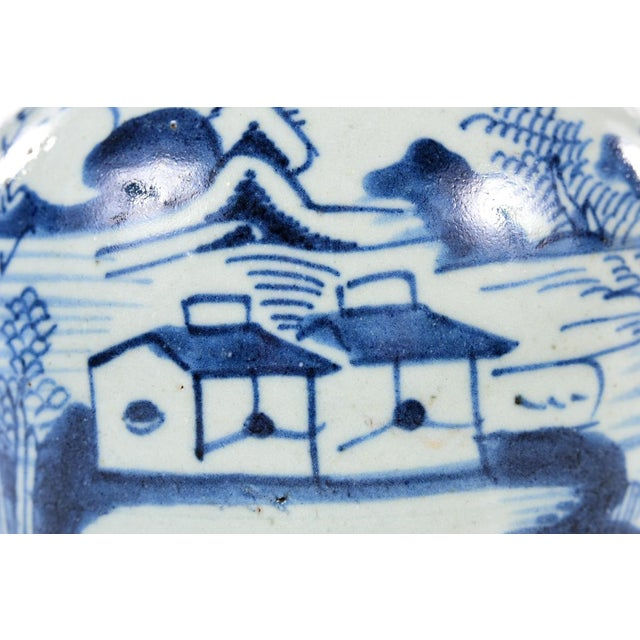 Chinese Antique Chinese Blue & White Jar For Sale - Image 3 of 9