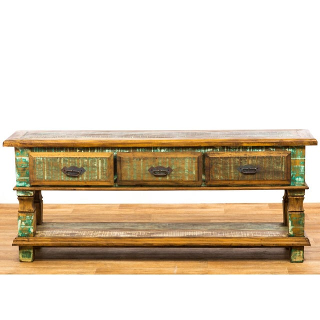 Reclaimed Wood Console Table - Image 2 of 8