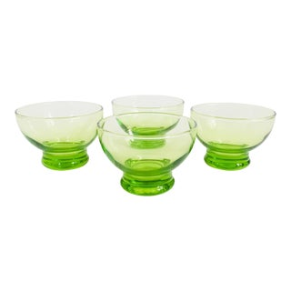 Vintage Green Coupe Cocktail Glasses - Set of 4