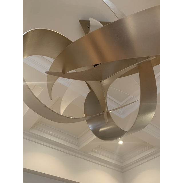 Abstract Hubbardton Forge Large Led Pendant Light For Sale - Image 3 of 7