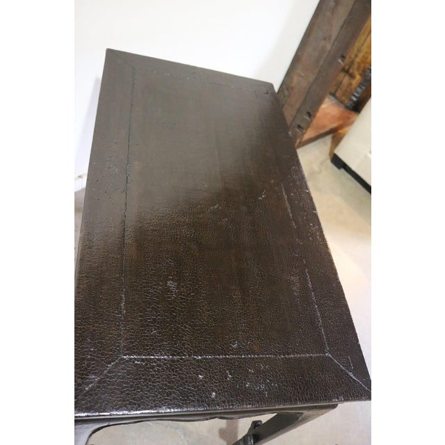 Chinese Black Crakel Lacquered Elm Table For Sale In Los Angeles - Image 6 of 7