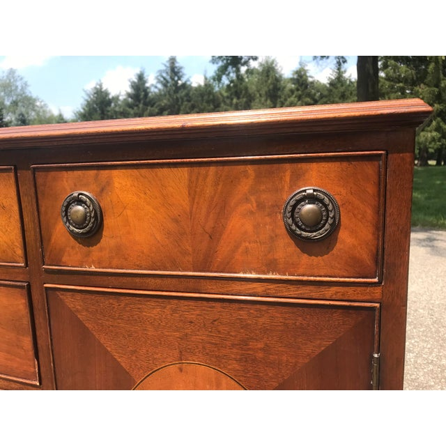 Baker Furniture Company Walnut Credenza With Tambour Doors by Baker Furniture For Sale - Image 4 of 12