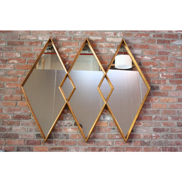 1960s Interlocking Diamond Giltwood Mirror by Labarge For Sale - Image 12 of 12