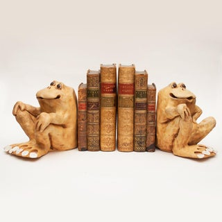 1978 Dave Grossman Signed Frog Sculptures/Bookends - a Pair Preview