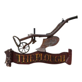 1900s English Wooden Tavern / Pub Sign For Sale