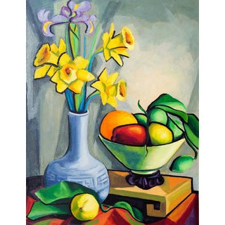 'Still Life With Daffodils' by Virginia Sevier Rogers, 1960s; Philadelphia Academy of Fine Arts, Carmel Arts Association For Sale